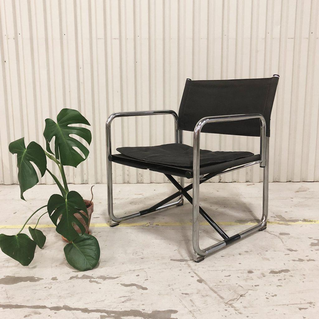 Fällbar stol lammhult x75-2 krom och canvas