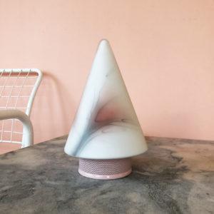 rosa bordslampa glas metall