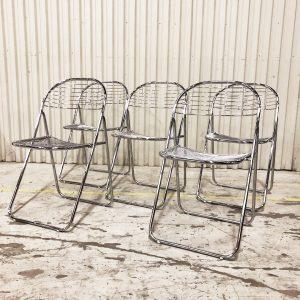 fällbara stolar i metall 90tal
