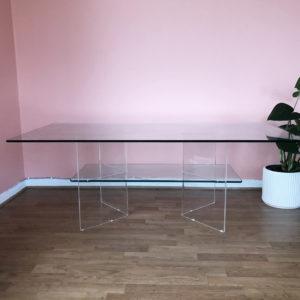 soffbord glas och plexi